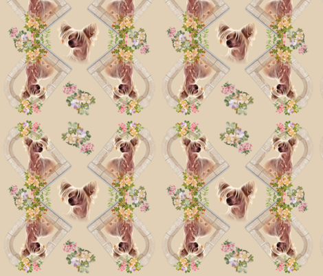 Chinese crested natural colors fabric by barbyyy on Spoonflower - custom fabric