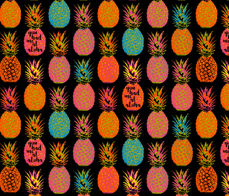 Pineapple Delight 18 inch Repeat fabric by mariafaithgarcia on Spoonflower - custom fabric