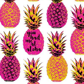 Pink Pineapples -  18 inch repeat