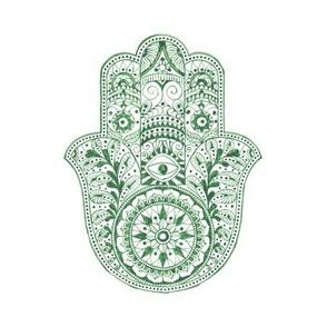 Hamsa Hand - Green