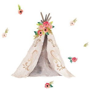 how to make a floral teepee topper