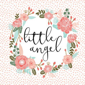 little angel blanket girls sweet flowers florals cute nursery baby blush sewing