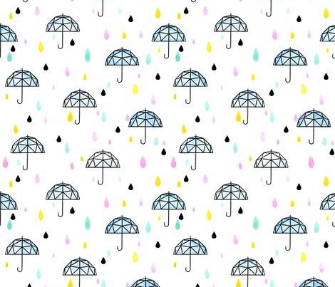 Geometric Umbrella Small Rain Girl Boy Baby Shower Gender Reveal