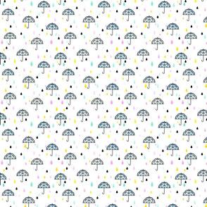 Geometric Umbrella Tiny Rain Girl Boy Baby Shower Gender Reveal Neutral Trendy Cute Pastel