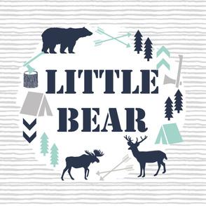 little bear blanket boys nursery baby grey mint navy kids