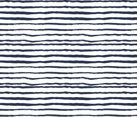 stripes handpainted stripe coordinate nursery baby boys navy blue fabric by charlottewinter on Spoonflower - custom fabric