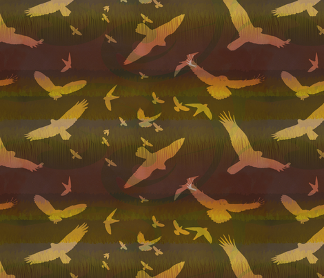 Autumn Birds fabric by heatherdoodle on Spoonflower - custom fabric