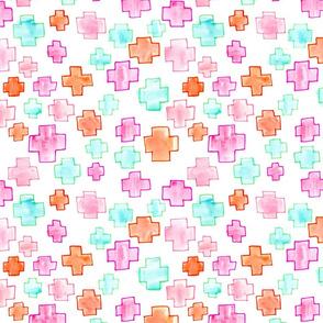 Swiss Cross Pink // mint orange plus modern trendy girl tamara arcilla tamara_arcilla
