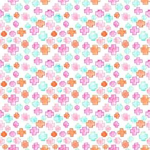 Swiss Cross Pink Small // mint orange plus modern trendy girl tamara arcilla tamara_arcilla