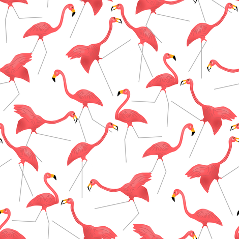 Lawn Flamingo Hot Pink 1 fabric by eclectic_house on Spoonflower - custom fabric