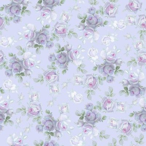 Nilly Floral in blue-violet