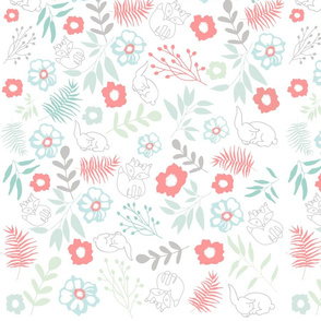 Fox and Bunny Pattern