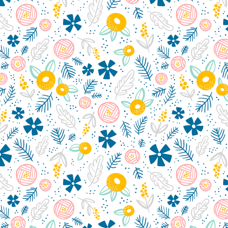 Abstract florals fabric by stolenpencil on Spoonflower - custom fabric
