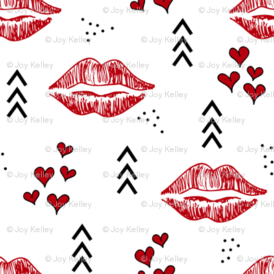 Kisses // Red and black