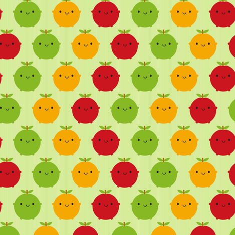 Cutie Fruity (Green) fabric by marcelinesmith on Spoonflower - custom fabric