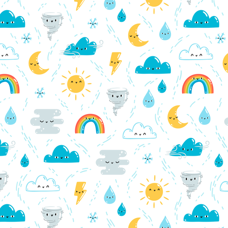 Fun weather fabric by stolenpencil on Spoonflower - custom fabric