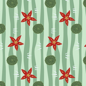 Spiky Stripy Floral