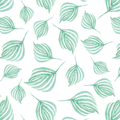Swirling leaves | Dark sea green