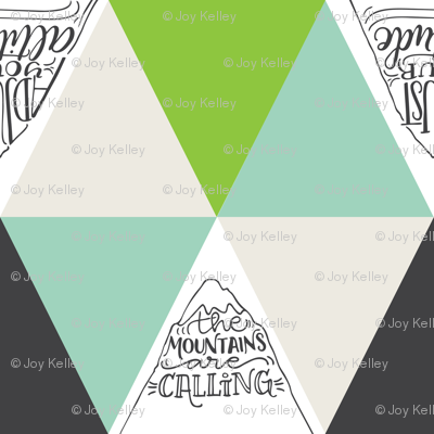 Mountains are calling // Green and grey shades