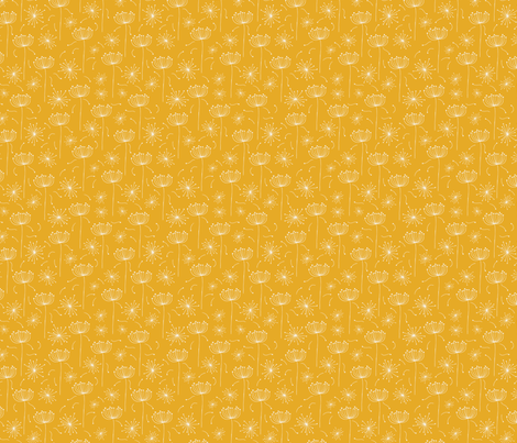 Dandelions fabric by thepatternparade on Spoonflower - custom fabric