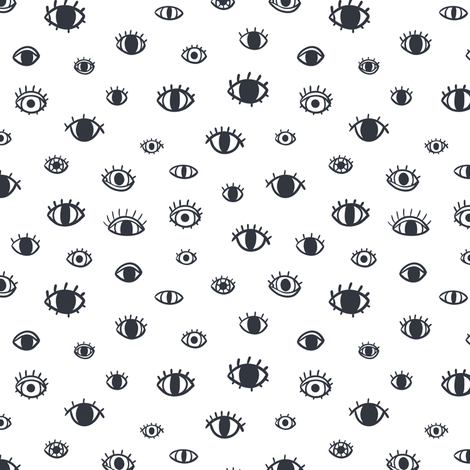 Eyes fabric by stolenpencil on Spoonflower - custom fabric