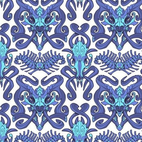 Monster Damask (blue)