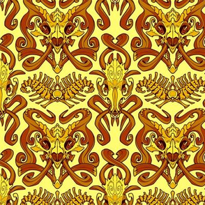 Monster Damask (gold)