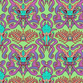Monster Damask (pastel)