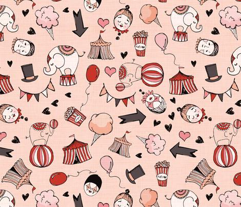 circus large fabric by laurawrightstudio on Spoonflower - custom fabric