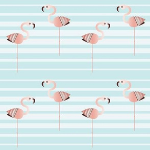 Flamingo Faster (sea stripe)
