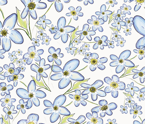 Forget-Me-Nots fabric by boundingsquirrel on Spoonflower - custom fabric