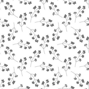 Black and white floral pattern 3