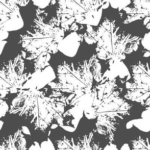 Black and white maple leaves pattern