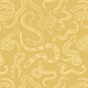 Snake Outlines - Gold