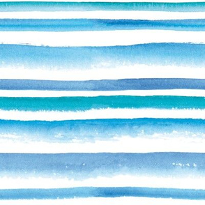 Watercolor blue striped pattern