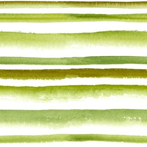 Watercolor green striped pattern