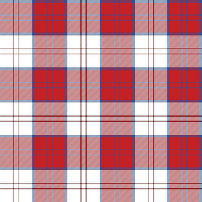 Dress Red Lennox tartan (Canadian version)