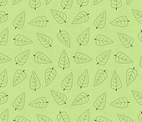 leaf fabric by iyami on Spoonflower - custom fabric