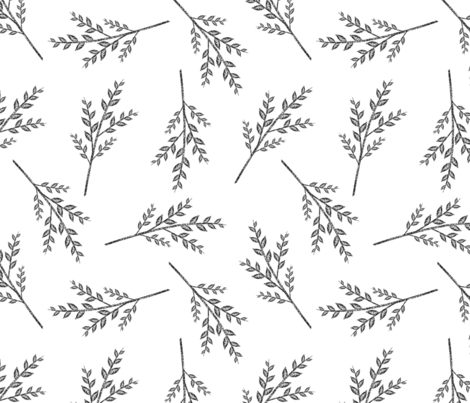 herbal fabric by iyami on Spoonflower - custom fabric