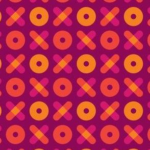 Tic Tac Toe, Orange and Pink