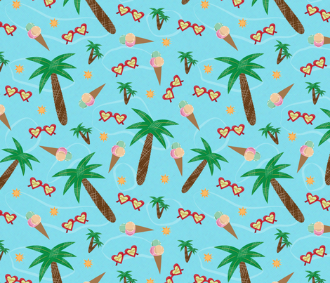 summer in our hearts fabric by iyami on Spoonflower - custom fabric