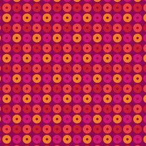 Pink, Orange, Red Circles