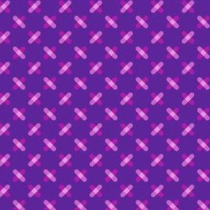 Purple Crisscross