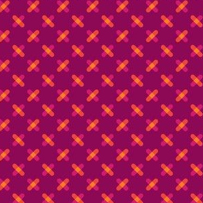 Pink and Orange Crisscross