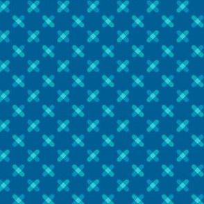 Blue Crisscross