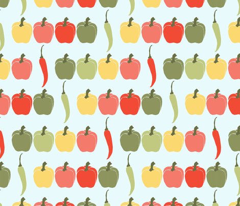 poivron_L fabric by nadja_petremand on Spoonflower - custom fabric