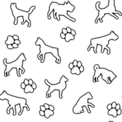Dogs n Paws // Outlines