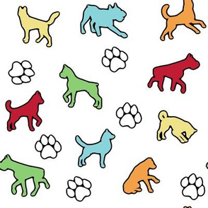 Colorful Dogs n Paws