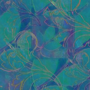 Tapestry in Aqua & Lavender
