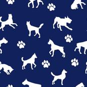 Dog n Paws on Blue